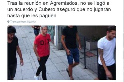 'xiiii '!Jogadores mantém greve na Argentina e ameaça o calendário da libertadores !