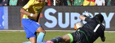 Após empate com Bolívia Neymar se Rende e pede camisa para goleiro Lampe que fechou o gol!