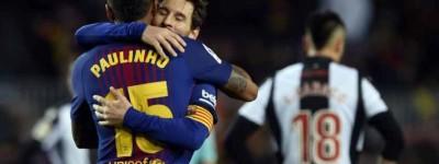 Paulinho marca mais um em vitória do Barça e consolida boa fase de Brasileiros no espanhol