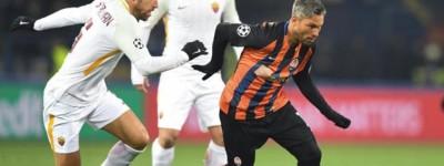 Com Brasileiros em campo e com boa atuação Shaktar vence Roma na Liga Europa !