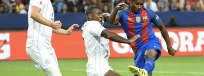 O Brasileiro Marlon jogador do Barcelona emprestado ao Nice é alvo do Leicester para 2019!