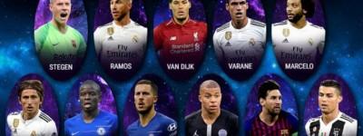 UEFA divulga lista de melhores do ano de 2018 com apenas 1 Brasileiro na lista !