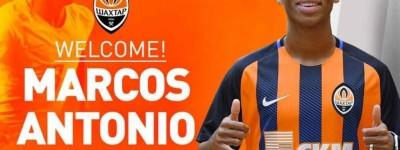 O Shakhtar Donetsk anunciou nesta terça-feira a contratação do brasileiro Marcos Antonio