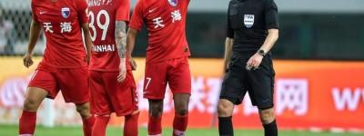 Ex-fluminense marcou seu primeiro gol com a camisa de seu novo clube na China !