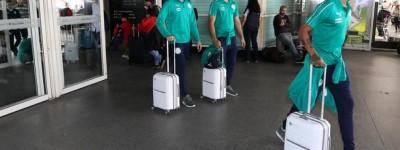 Após transtorno no voo ,Palmeiras chega a Argentina a tempo de fazer único treino!