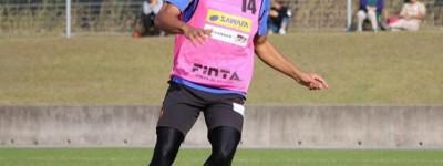 Zagueiro brasileiro Renan voltou a treinar com bola no time japonês nesta semana !
