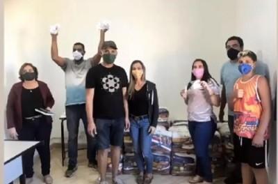 Atacante brasileiro atuando no futebol Russo,doa cestas básicas à comunidades carentes!