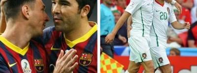 ''Honra''Brasileiro está entre os poucos mortais que atuaram com Messi e Cristiano Ronaldo