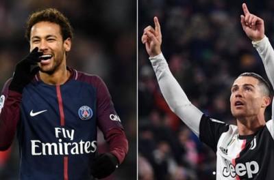 'Será que vale?'Jornalista italiano diz que Juventus pensa em troca de CR7 por Neymar
