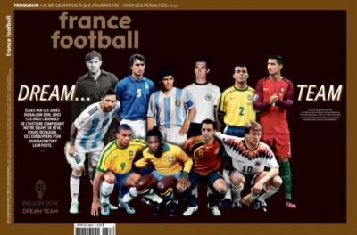 Brasileiros representam o Brasil no Dream Team Bola de Ouro da France Football !