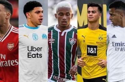 ''Com moral ''Cinco brasileiros concorrem ao prêmio Golden Boy de 2021 !