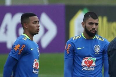 ''Será que vai?''Tite dá à Gabriel Jesus e Gabriel Barbosa a missão dos gols na Venezuela